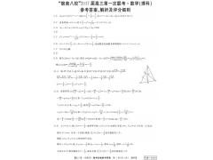 皖南八校联考2017届高三第一次联考理科数学试题答案