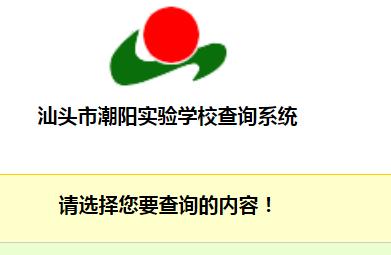 汕头市潮阳实验学校查询系统